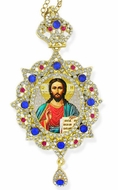 Christ The Teacher, Star Shaped, Panagia Style Framed Icon