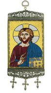"Christ The Teacher, Tapestry Icon Banner, `10"" H"