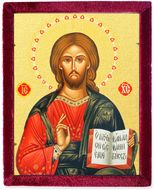 Christ the Teacher Pantocrator Icon in Velvet Case