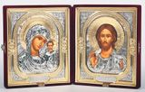 Christ The Teacher & Virgin of Kazan, Presentation / Wedding Gift Icon Set