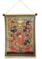Jesus Christ The Tree of Life Vine, Hanging Tapestry Icon Banner