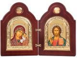 Christ the Teacher / Virgin of Kazan, Matching Set of Serigraph Icons