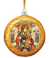 Virgin Mary Unfading Bloom, Not Breakable Christmas  Ornament, Gold