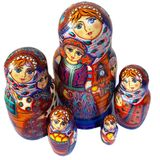 Collectible Matreshka 5 Nesting Art Dolls