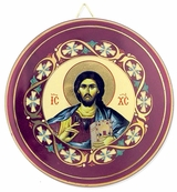 Christ The Teacher, Round Ceramic Icon Plate