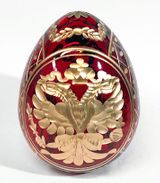 Crystal  Egg with Double Headed Eagle / Catherine The Great Sign