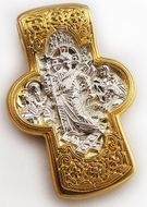 Decent Into Hell,  Engraved Reversible Orthodox Cross