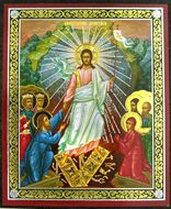 Decent Into Hell - Resurrection of Christ, Easter Pascha Mini Icon