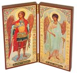 Diptych of Archangel  Michael &  Guardian Angel  Orthodox Icons