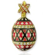 "Easter ""Pisanka"" Style Mini Egg Pendant, Silver, Gold Plated"