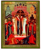Elevation (Finding) of the Holy Cross, Orthodox Icon
