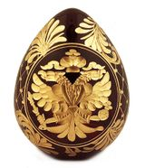 Faberge Style Imperial Eagle Crystal Egg/ / Romanov Dynasty Sign