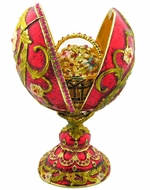 Faberge StylePresentation  Egg With Surprise, Red