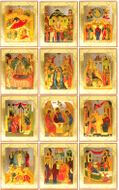 Feast Day Icons Set of 13 Orthodox Icons