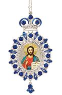Christ the Teacher, Jeweled  Icon Ornament with Chain