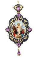 Resurrection of Christ, Enameled Jeweled Icon Ornament