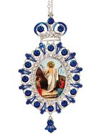 Resurrection of Christ, Jeweled  Icon Ornament with Chain
