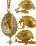 Gold and Silver Plated Pascha Easter Egg