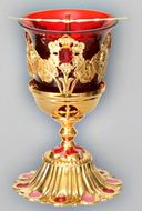 Gold Plated Standing Lamp, Christian Orthodox Authentic Product