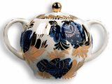Lomonosov Porcelain 'Golden Garden' Sugar Bowl