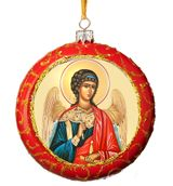Guardian Angel, Not Breakable Christmas  Ornament, Red