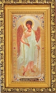 Guardian Angel, Gold Framed  Orthodox Icon with Protective Glass