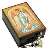 Guardian Angel,  Keepsake Rosary  Icon  Box