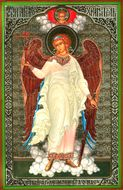Guardian Angel, Orthodox Christian Panel Icon