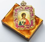 Guardian Angel, Square Shaped Ornament Icon, Pink