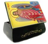Hand Painted Lacquered  Box  with Archangel  Michael Icon