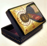 Hand Painted Lacquered Wooden  Box  with Christ The Teacher