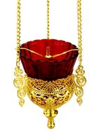 Hanging Lamp, Heavy  Gold Plated
