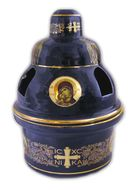 Heat Proof Church Ceramic Oil Lamp with Icons, Blue