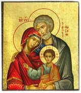 Holy Family, Serigraph Mini Icon with Magnet
