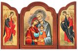 The Holy Family, Serigraph Orthodox Triptych