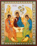 Holy Trinity (Old Testament Trinity) , Orthodox  Gold Foil Icon