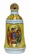 Holy Water Ceramic Container with Assorted Icons, Turquoise