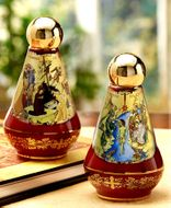 Holy Water Ceramic Container, Burgundy