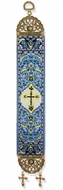 IC XC Cross, Textile Art  Tapestry Icon Banner, Blue
