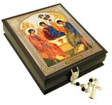 The Holy Trinity, Decoupage Keepsake Wooden Box