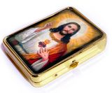 Pill Box with Icon of Sacred Heart of Jesus