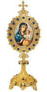 Virgin Mary Eternal Bloom, Icon Shrine in Monstrance Style