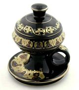 Ceramic Incense Burner with Top, Black