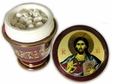 Incense Ceramic Container with Icon of Christ