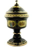 Incense Container  with Lid, Black, Large