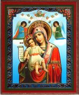 """It is Truly Meet to Bless You Mother of God"", Orthodox Mini Icon"
