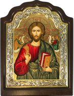 Christ The Teacher, Serigraph Orthodox Framed Icon with Stand