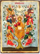 "Jesus Christ ""The Vine"",  Greek Serigraph Orthodox Icon"