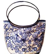 Linen Easter Pascha Kulich Tote Bag Case, Blue
