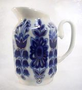 Lomonosov Porcelain 'Blue Field' Creamer